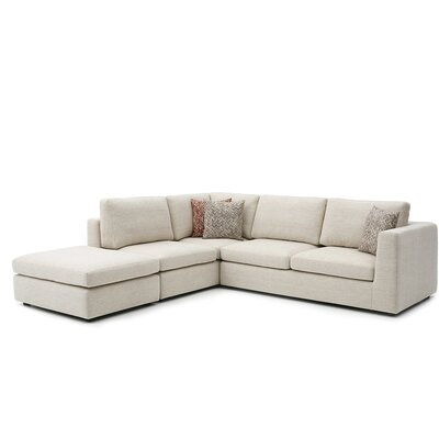 Emily Sectional Upholstery: Niche Silvermoon, Orientation: Right Hand Facing