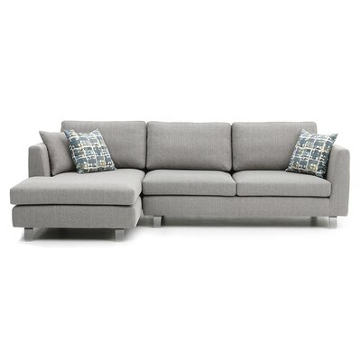 Mathew Sectional Upholstery: Lyndon Ecru, Orientation: Right Arm Facing