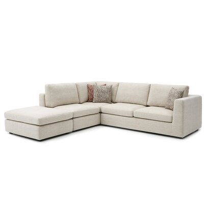 Emily Sectional Upholstery: Corona Parkwood, Orientation: Left Hand Facing