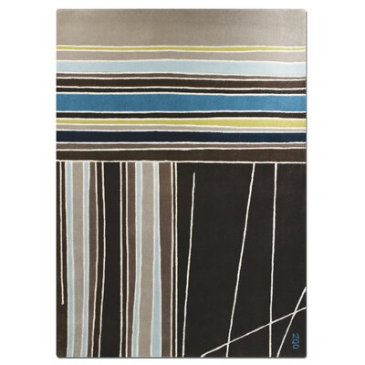 Meridian Striped Rug Rug Size: 5 x 7