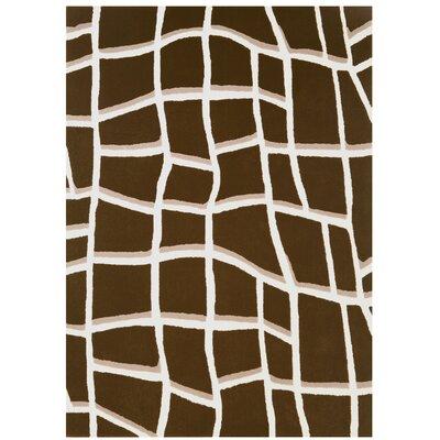 Pietra Chocolate Area Rug Rug Size: 5 x 7