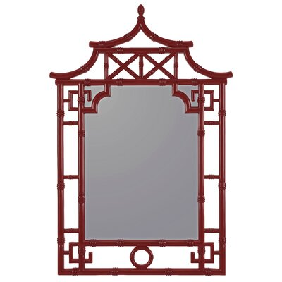 Maya Wall Mirror Finish: Glossy Red