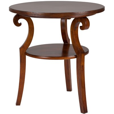 Cheap Cooper Classics Savannah Round End Table in Brown Mahogany (CO1853)