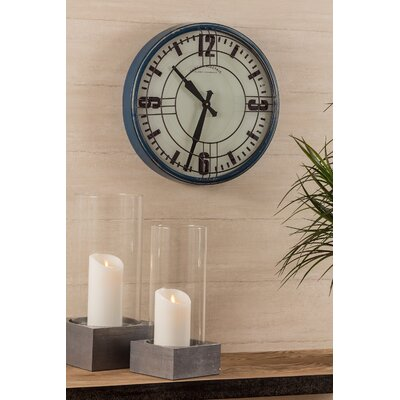 "17.5"" Round Blue Wall Clock LRFY4223 33614711"