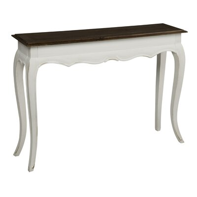 Cheap Cooper Classics Brady Console Table in Distressed Two-Tone Brown and Cream (CO1942)