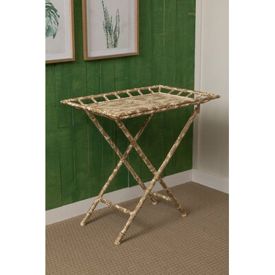 Colden End Table Color: Brown/White