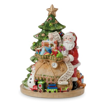 Holiday Musical Gifts From Santa Figurine