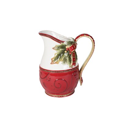 Damask Holiday Motif 54 oz. Pitcher