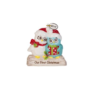 Holiday Hoot Our First Christmas Ornament with Dated Tag 49-576