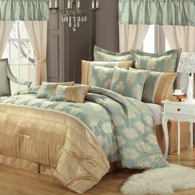 Alexandra 20 Piece Comforter Set Size: Queen