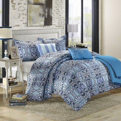 Lynwood 6 Piece Reversible Comforter Set Size: Queen