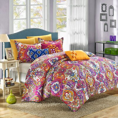 Mumbai 8 Piece Reversible Comforter Set Size: King
