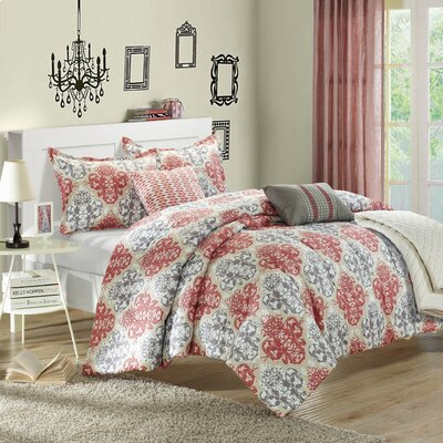 Venetian 6 Piece Reversible Comforter Set Size: Queen