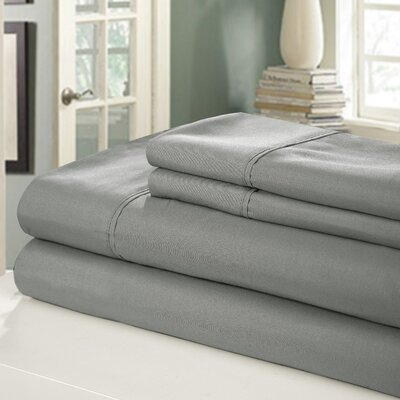 Chic Home 400 Series Peach Skin Microfiber Sheet Set - Size: King Color: Grey