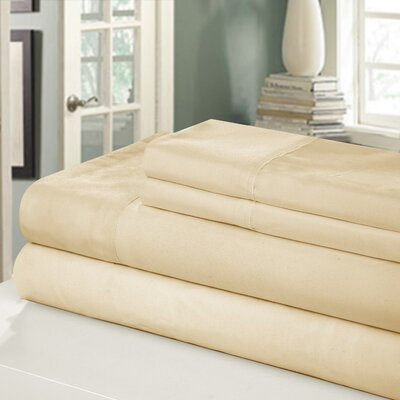 Chic Home 400 Series Peach Skin Microfiber Sheet Set - Color: Sand Size: Twin