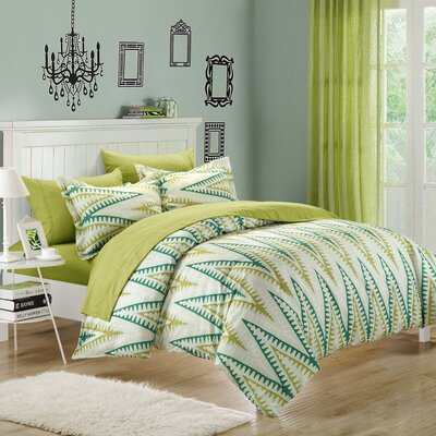 Selina 3 Piece Duvet Cover Set Color: Kiwi, Size: King