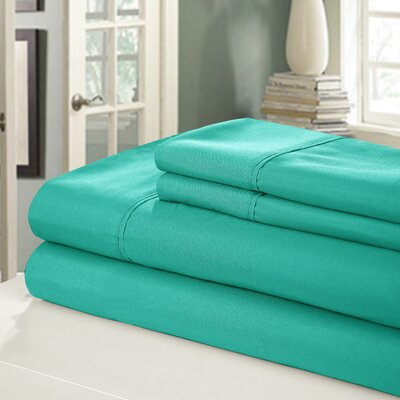 Chic Home 400 Series Peach Skin Microfiber Sheet Set - Color: Turquoise Size: King
