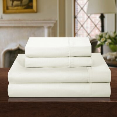 1000 Thread Count 100% Cotton Sheet Set Color: Off-White, Size: King