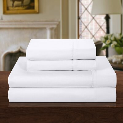 1000 Thread Count 100% Cotton Sheet Set Color: White, Size: Queen