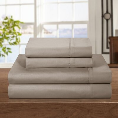 500 Thread Count 100% Cotton Sheet Set Color: Taupe, Size: King
