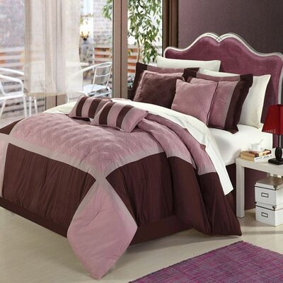 Quincy Rose 8 Piece Comforter Set Size: Queen