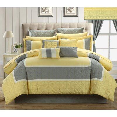 Aida 25 Piece King Comforter Set Color: Yellow