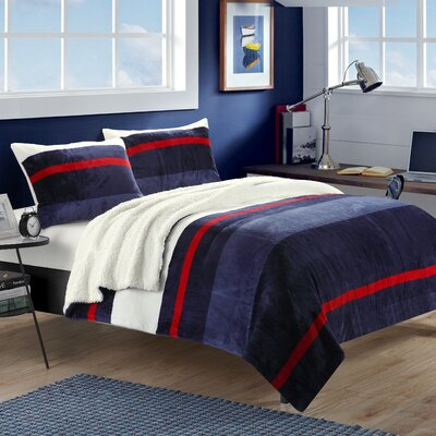 Megan 3 Piece Quilt Set Size: King, Color: Blue