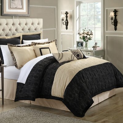 Turin 12 Piece Comforter Set Size: Queen