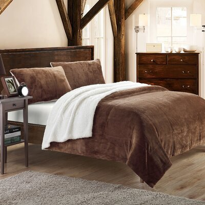 Evie 3 Piece Coverlet Set Size: Queen, Color: Brown
