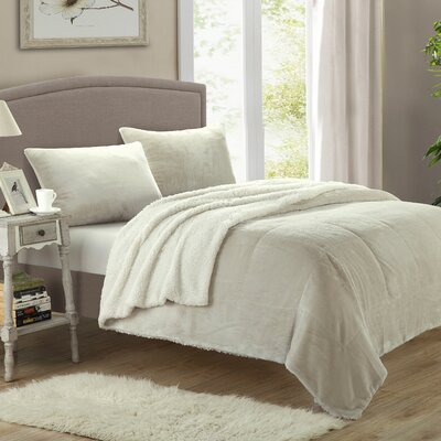 Evie 7 Piece Quilt Set Size: King, Color: Beige