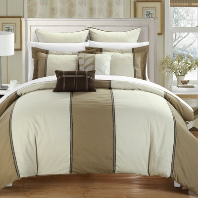 Frontier 7 Piece Comforter Set Size: King, Color: Green/Tan