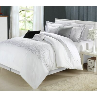 Bridal 12 Piece Comforter Set Size: King