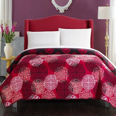 Judith Boho Inspired 5 Piece Reversible Quilt Set Size: King, Color: Red