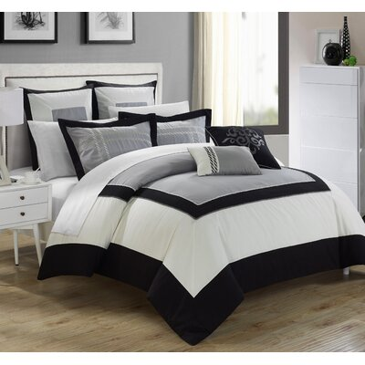 Ballroom 7 piece Comforter Set Size: King