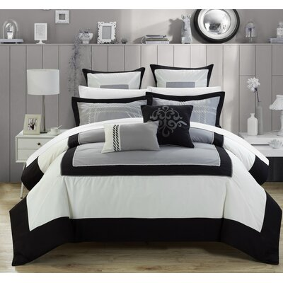 Ballroom 11 Piece Comforter Set Size: Queen