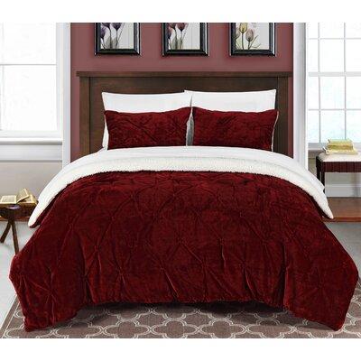 Fontane 2 Piece Twin XL Comforter Set Color: Burgundy