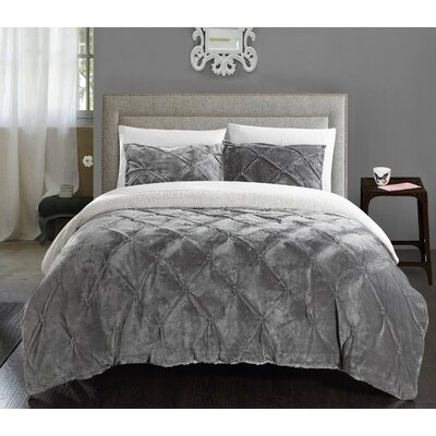 Fontane 2 Piece Twin XL Comforter Set Color: Gray