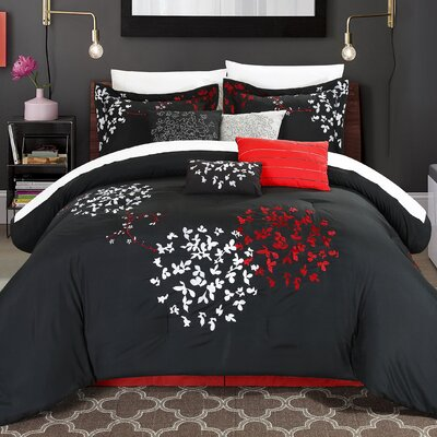 Cheila 8 Piece Comforter Set Size: King