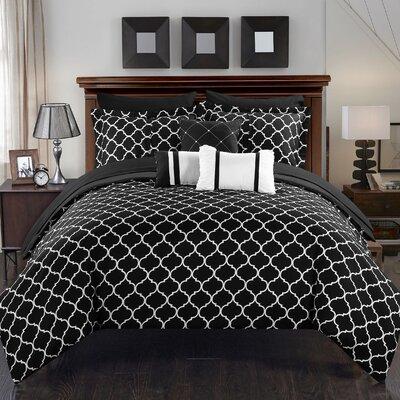 Dorothy 10 Piece Bed-In-A-Bag Set Size: King, Color: Black