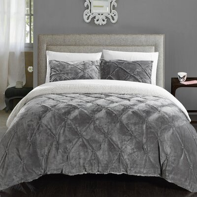 Abrianna 7 Piece Comforter Set Size: King, Color: Grey