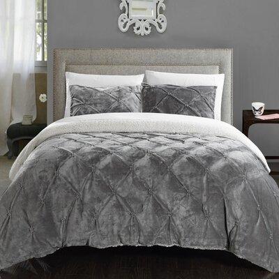 Fontane 7 Piece Comforter Set Size: Queen, Color: Grey