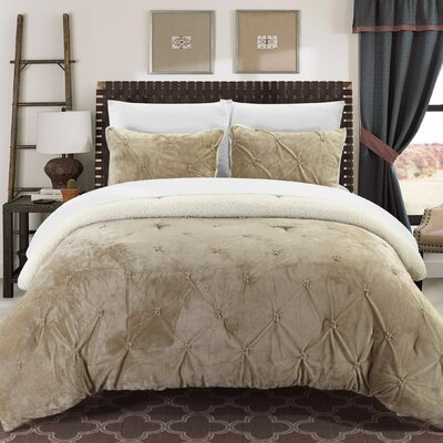 Abrianna 7 Piece Comforter Set Size: King, Color: Beige