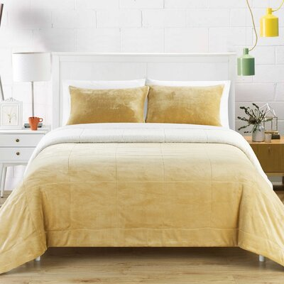 Evie 7 Piece Comforter Set Size: King, Color: Camel