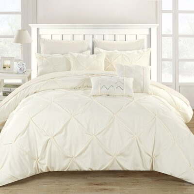 Filicia 10 Piece Comforter Set Size: Queen, Color: Ivory