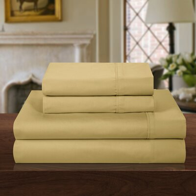 1000 Thread Count Sheet Set Size: King, Color: Gold