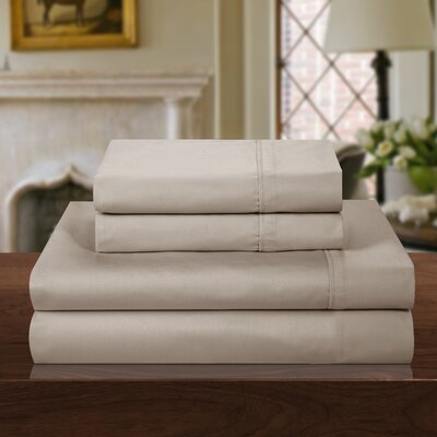 1000 Thread Count Sheet Set Size: King, Color: Tan
