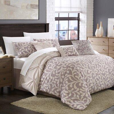 Trenton 7 Piece Reversible Comforter Set Size: Queen, Color: Violet / Lilac