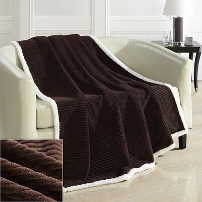 Bern Ultra Plush Throw Blanket Color: Brown