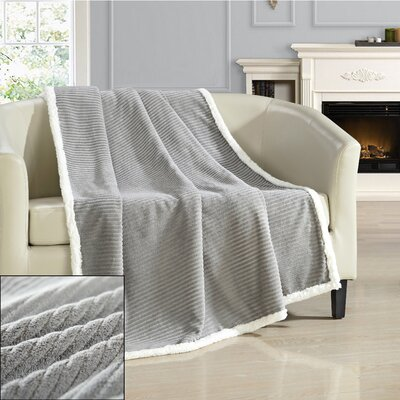 Bern Ultra Plush Throw Blanket Color: Gray