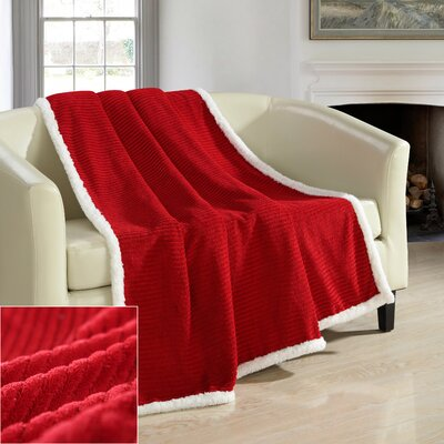 Bern Ultra Plush Throw Blanket Color: Marsala